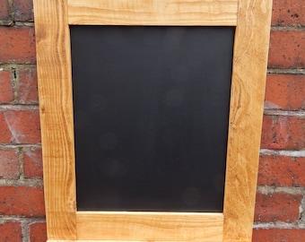 Chalk Board - Wooden Frame - Chalk Shelf