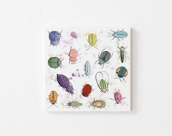 Bug Buddies Print - Illustration, Perfect Gift, Square Print, Affordable Artwork