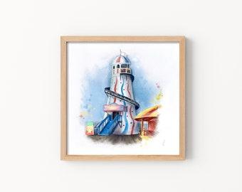 Fun at the Fair Print - Illustration, Perfect Gift, Square Print, Affordable Artwork