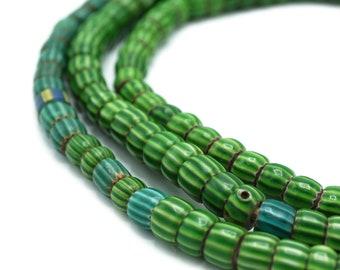 Glass Faceted Round Drop Beads 5 x 7mm Green BULK 3 Strands x 55 Pcs Art Hobby