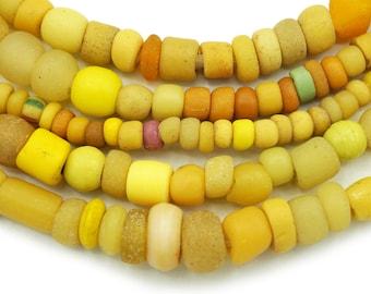Antique Mali Wedding African Trade Beads 15x25mm 6 beads