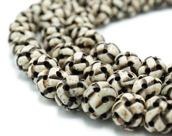 Cream Bone Prayer Beads Tanzania Mala Africa 37 Inch 118390