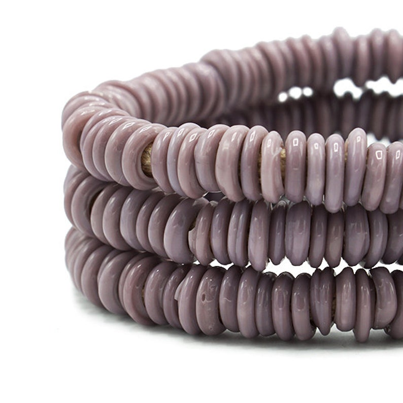 - Mali Tribal African Trade Beads 307-VEN-DOG 14-18mm 270 Dogon Wound Glass Donut Beads originally from Venice Full Strand Mixed Sizes