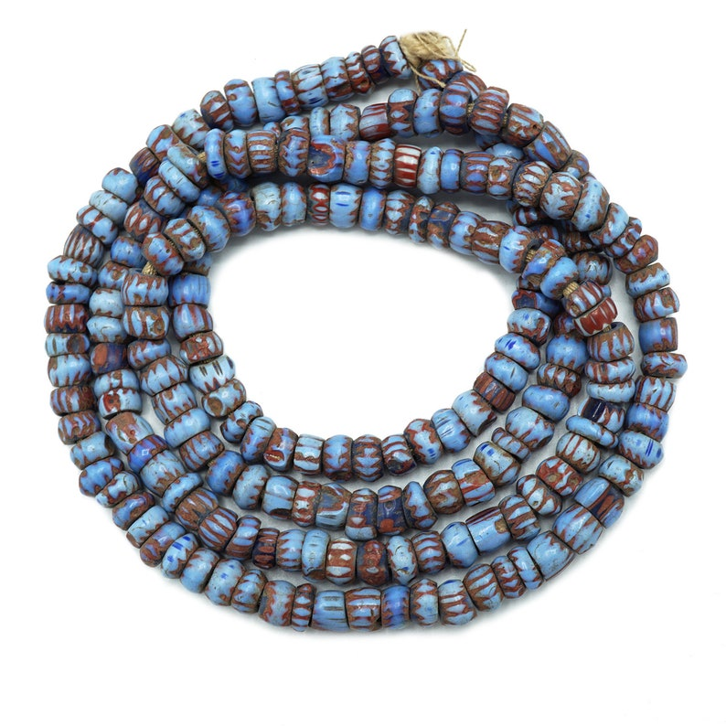 Venetian Awale Chevron Beads 5x8mm 124 Beads on 25 Strand SKU-CHEV-1