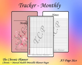Symptom Tracker Monthly 4 Pages Etsy