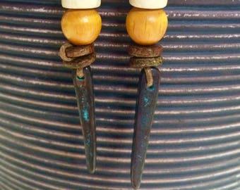 Tribal rustic earrings