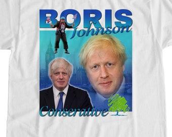 """Je déteste Boris T-Shirt-protestation /""""Anti-Tory Bojo Johnson restent Tee"""