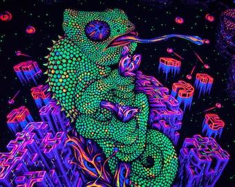 trippy tapestry etsy