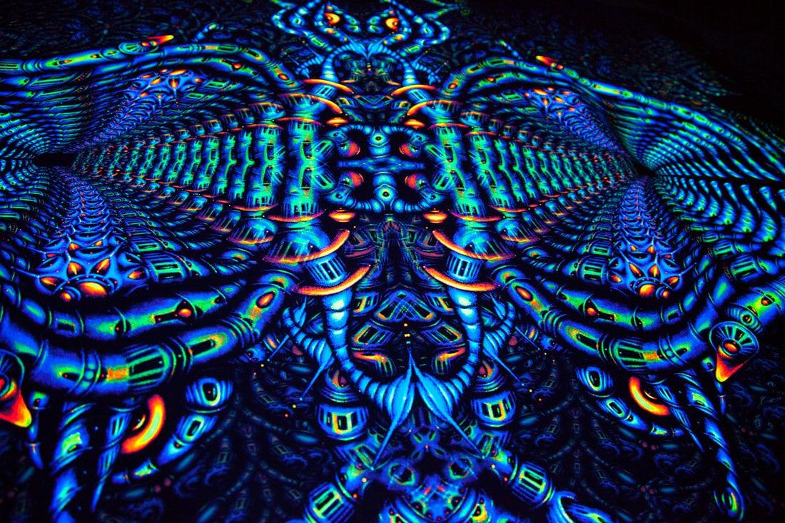 Psychedelic Tapestry Quot Quot Monkeysound Quot Quot Etsy