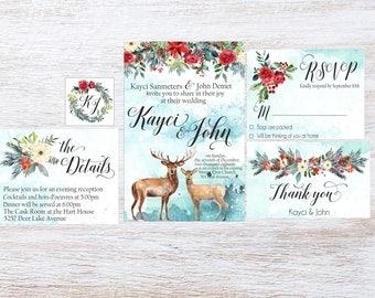 Deer Wedding Invite Etsy