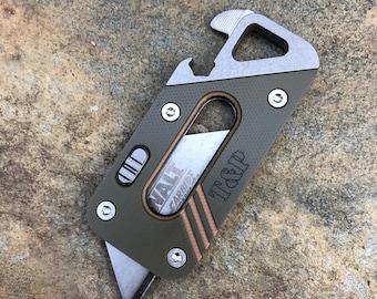The AVIS Titanium Tool Companion (T2C), EDC With G10 Camo Face