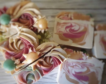 Strawberry Champagne Punch Handcrafted Artisan Soap