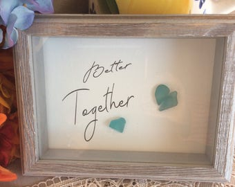 Better Together Sea Glass Art Print