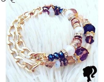 Vintage crystallized bracelets Cameo