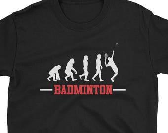 Badminton evolution -  badminton tee - funny badminton gift - badminton player tee - badminton apparel - badminton lovers - i love bad