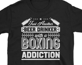 Beer and Boxing - Boxing shirt - funny boxing tee - boxer shirt - bocing apparel - boxing lover - boxing gloves shirt - boxing tee men