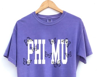 Phi Mu // The Keely Butterfly Sorority Shirt // Comfort Colors // More Colors Available!