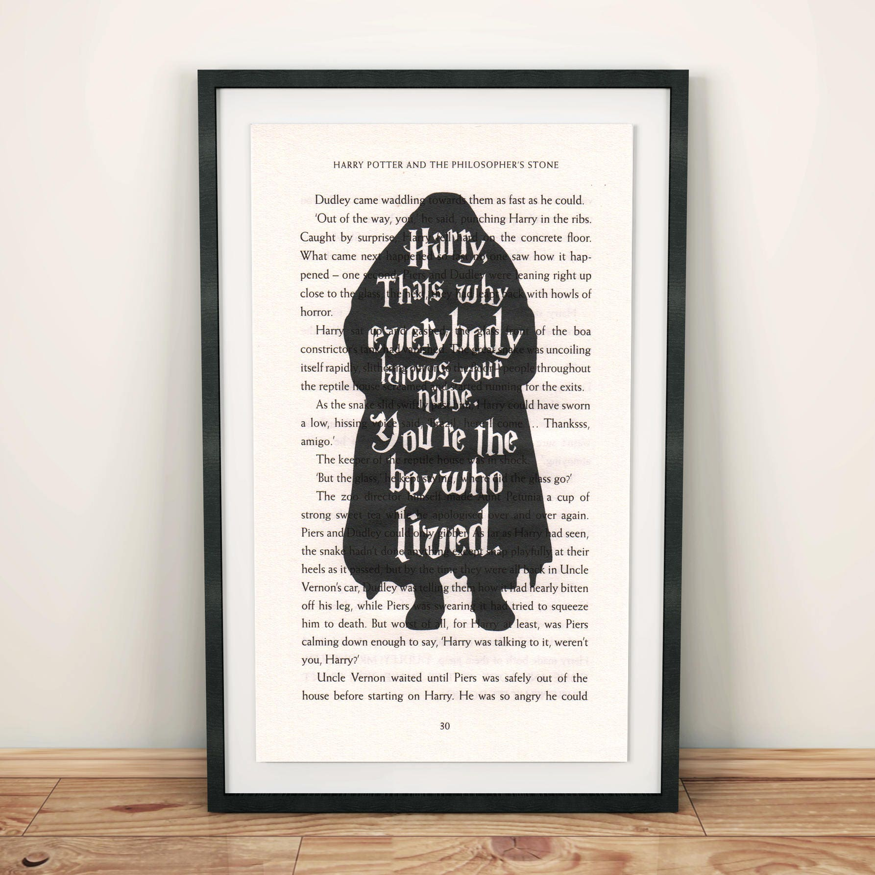 Hagrid Quote Harry Potter You\'re The Boy Who Lived On | Etsy