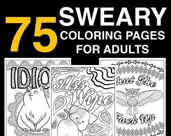 75 Page Swear Word Coloring Book