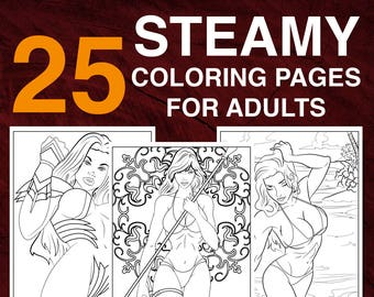 25 Naughty Coloring Pages for Adults Instant Download | Etsy