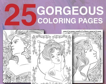 25 Gorgeous Women Coloring Pages