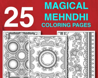 Indian coloring book | Etsy