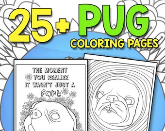 BEST VALUE 25 Pug Coloring Pages A Funny Activity Book For Kids Adults And Lovers Who Love Dogs