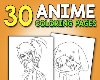 Anime Coloring Book Etsy