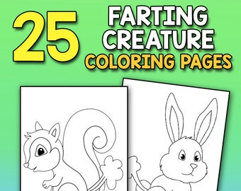 Animal Colouring Pages Colouring Book Kids Kids Coloring Etsy