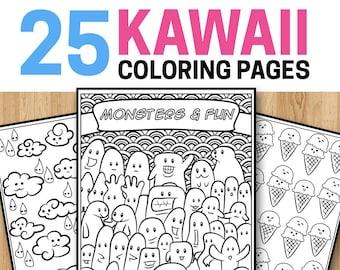 25 Kawaii Coloring Pages