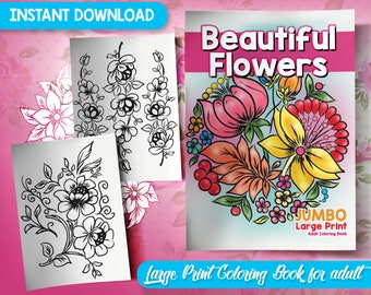 BEST VALUE 50 Beautiful Flowers Coloring Pages