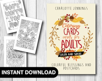 30 Good Vibes Coloring Pages Cards