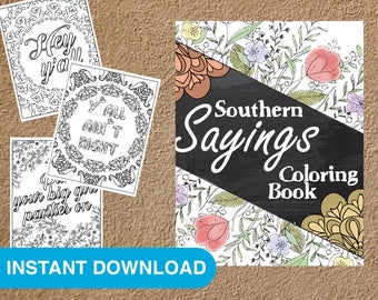 28 Southern Sayings Coloring Pages