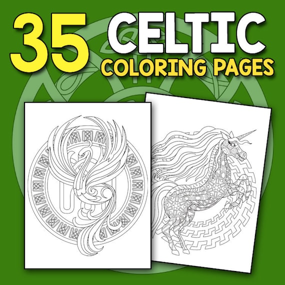 Celtic Coloring Book: Spiritual Celtic Designs and Stress | Etsy