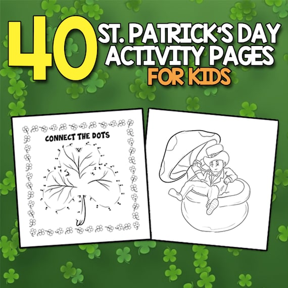 BEST VALUE St. Patrick's Day Jumbo Activity Book for Kids