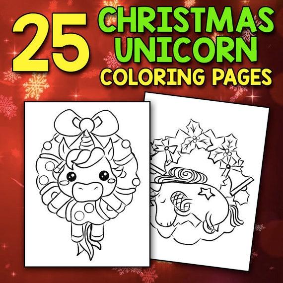 Christmas Unicorn Coloring Book A Magical & Fantasy ...