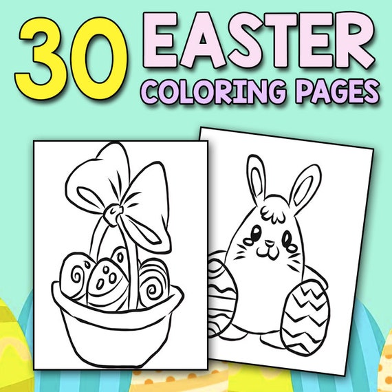 - SALE Easter Coloring Book With Easter Coloring Pages Easter Etsy
