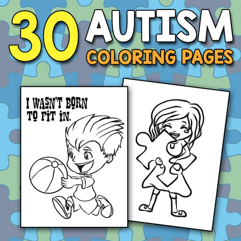 BEST VALUE Autism Coloring Book for Autistic Girls Boys and | Etsy