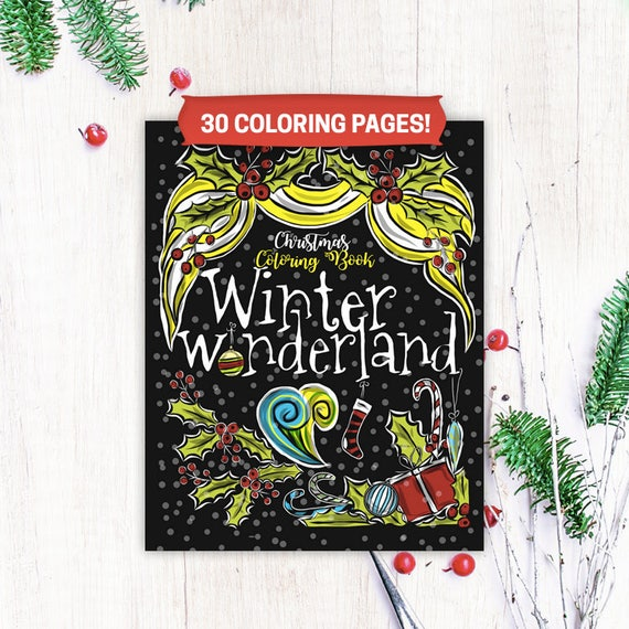 Best Value 30 Winter Wonderland Christmas Coloring Pages For Etsy
