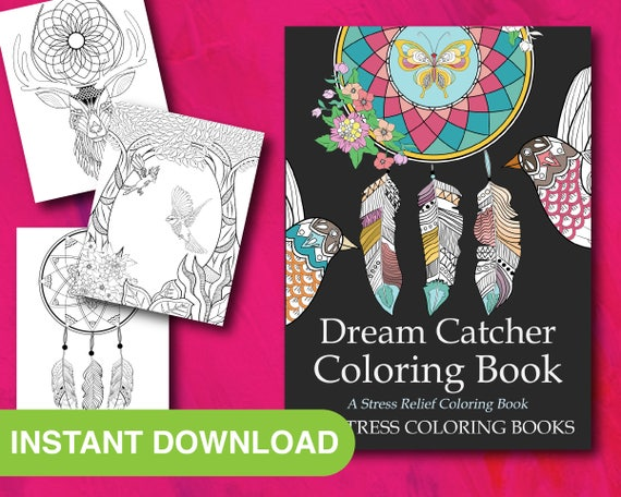 25 Dream Catcher Art Adult Coloring Pages Printable Instant Etsy