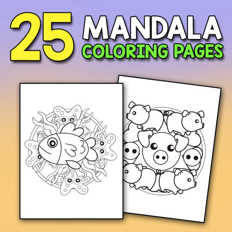 Mandala Coloring Book For Kids Super Cute Animals Stress Relief Coloring Book For Kids Filled With Relaxing Patterns And Animal Mandalas