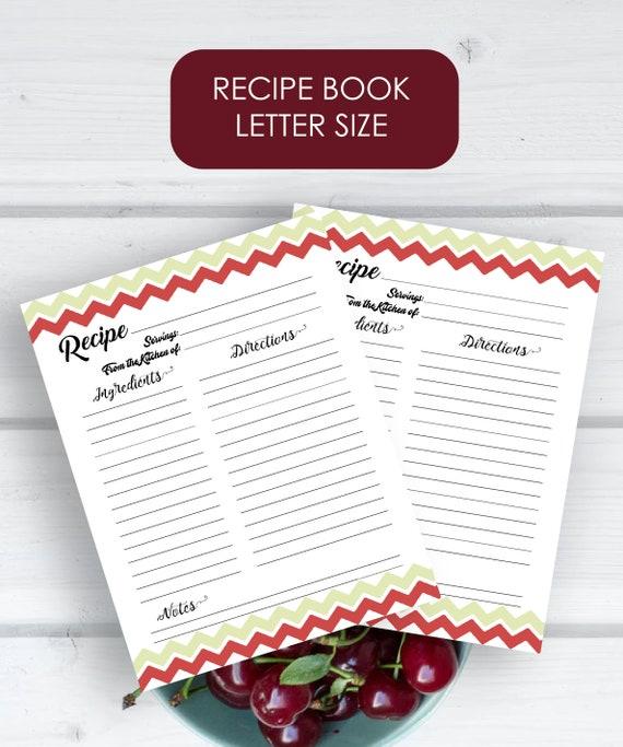 graphic regarding Printable Recipe Book called Recipe Ebook Printable - Recipe Sheet, Recipe Web page, Recipe Binder, Recipe Organizer, Kitchen area Cookbook, Blank Recipe Guide, Recipe Keeper