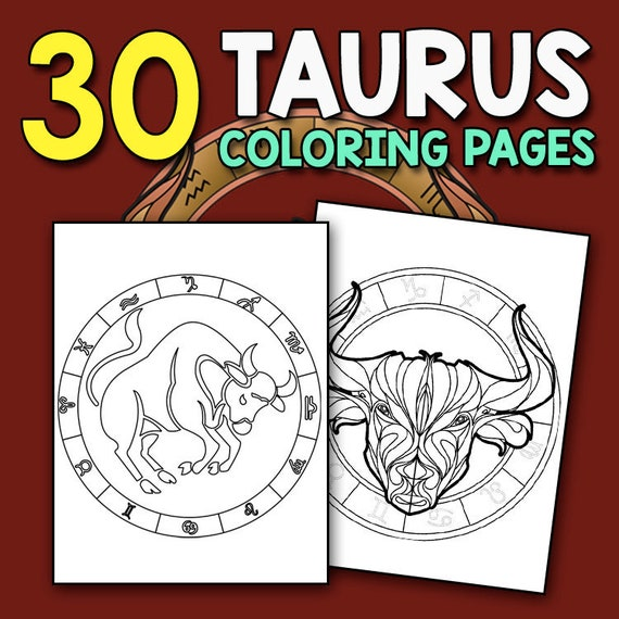 - Zodiac Coloring Book: Taurus Astrology Coloring Book For Etsy