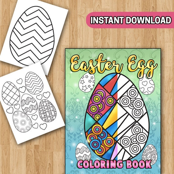 SALE Easter Egg Coloring Book With Easter Coloring Pages Etsy