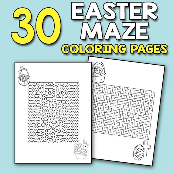 Easter Mazes - Best Coloring Pages For Kids | 570x570