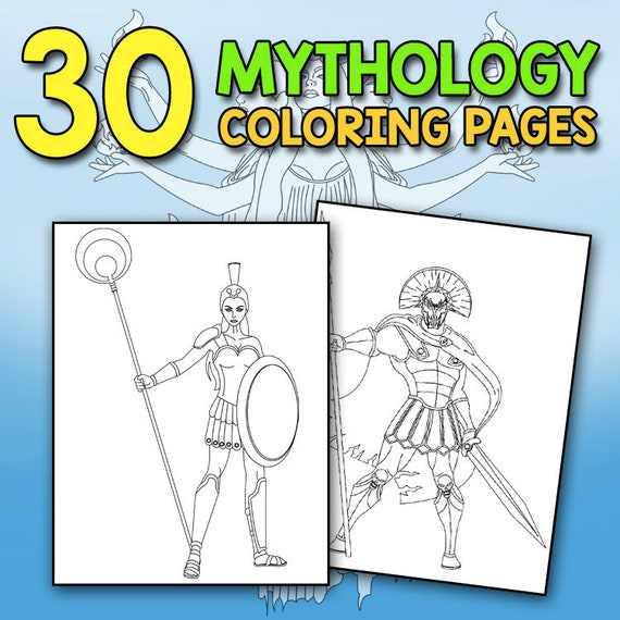 Greek Gods and Goddesses Coloring Book | Be Different Baby | 570x570