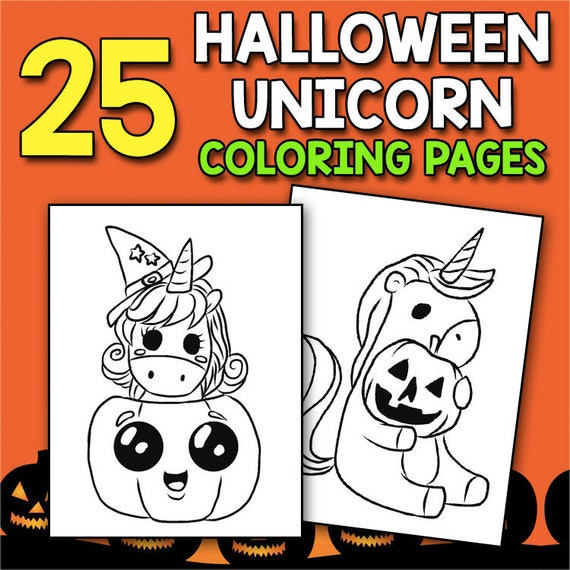 Halloween Unicorn Coloring Book For Girls Teens with Pumpkin Unicorns  Halloween Coloring Book Celebrations Fantasy Halloween Activity Book