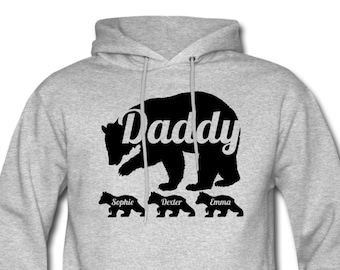 Fathers Day Gift Jacket For Dad Daddy Bear Hoody Gift for Dad Daddy Bear Jacket LegendAttire Fathers Day Hoody Present For Dad