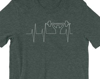 Weightlifting Heartbeat Shirt - Weightlifting Shirt - Weight Lifting Shirt  - WOD Shirt - Weight Lifting - Barbell Shirt - Weightlifting Gift 8ede4c683