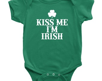 ec06e4af7 Kiss Me I'm Irish Baby Bodysuit St Patricks Day Infant St Patricks Day  Shirt Baby St Patricks Day Baby Outfit St Patricks Day Baby Clothes
